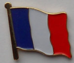 France Country Flag Enamel Pin Badge